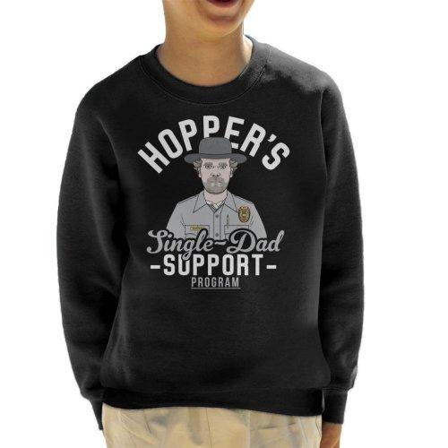 Stranger Things Hoppers Single Dad Support Network Kid's Sweatshirt