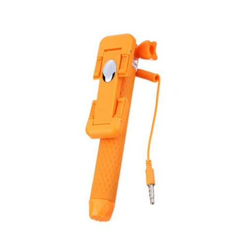 Portable Mini Self-portrait Stabilizer Holder Handheld Monopod ORANGE