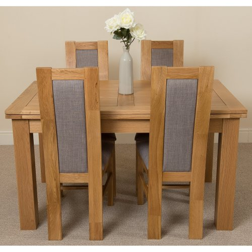 Richmond Solid Oak 140cm Extending Table with Stanford Dining Chairs