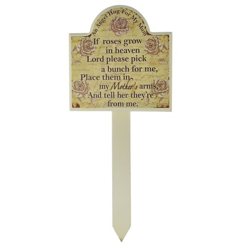 Mum Grave Memorial Stick Stake Marker If Roses Grow In Heaven