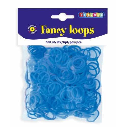 PBX2471088 - * Playbox - Loops (Loom Bands) - 500pcs blue