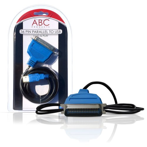 ABC Products ® USB to Parallel Port Adapter Cable Lead IEEE1284 for Printers Printer adaptor 36 pin Canon Epson Brother Lexmark HP Hewlett Packard...