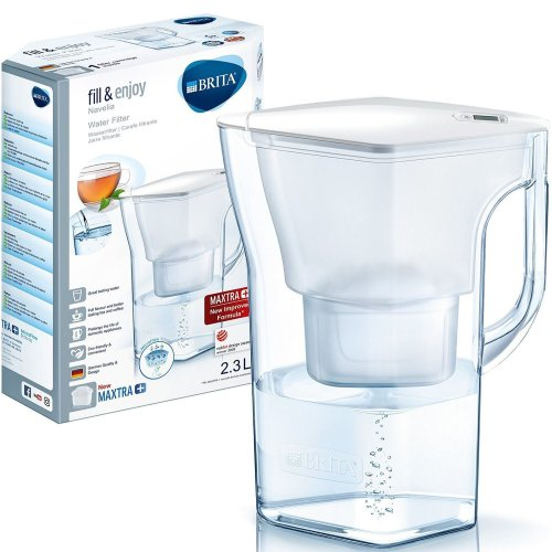 BRITA Navelia Cool MAXTRA+ Plus 2.3L Water Filter Fridge Jug + Cartridge - White