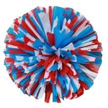 2 Pcs Cheerleading Cheer Pom Poms Sports Dance Cheerleader Pom Poms Multicolour