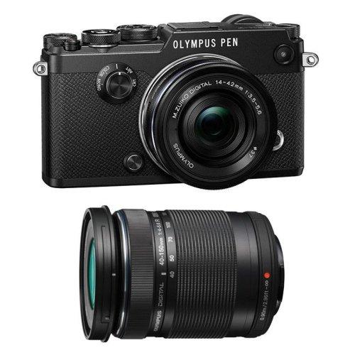 OLYMPUS PEN-F Black + 14-42mm F3.5-5.6 EZ ED Black + 40-150mm F4-5.6R