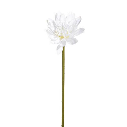 Artificial Cream Lotus Lily Stem - 68cm - White Faux Flowers