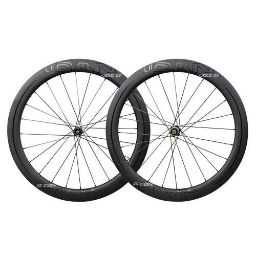 ICAN Carbon Road Bike Wheels AERO 55 Disc