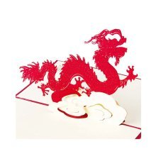 Good Luck Anniversary Cards 3D Chinese Dragon Greeting Cards Birthday Card