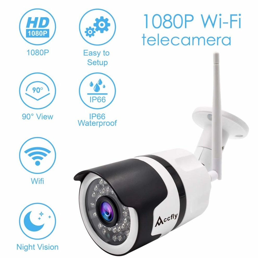 Outdoor Security Camera 1080P Cloud WiFi Cam Wireless IP Waterproof IR  Night Vision Home Security Surveillance System Accfly