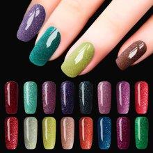DECOUVRIR 8ml Glitter Neon UV Gel Polish Nail Art Shimmer Colors Soak Off Colorful