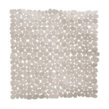 Pebble Design Square PVC Bath Mat, Grey