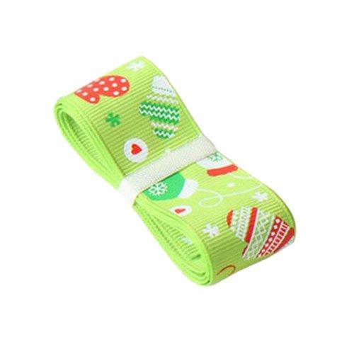 Christmas Decor Craft Green DIY Ribbon for Christmas [Gloves]