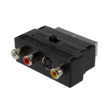 TRIXES Composite RCA and S-Video to SCART Adapter Input/Output Switchable