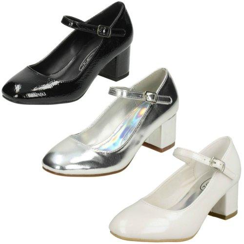 Girls Spot On Block Heeled Shoes