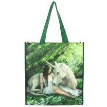Anne Stokes Pure Heart Unicorn Shopping Bag Reusable Gothic Pagan Tote 39cm