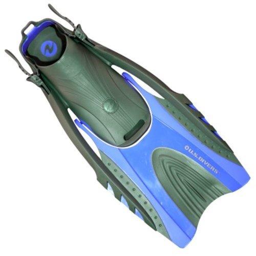 U.S. Divers Hinge Flex II Fin (Electric Blue, Men (sm/md) 9-13 Lady (sm/md) 10-14)