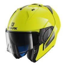 SHARK EVO-ONE 2 HI-VISIBILITY YKY Motorcycle Helmet, Yellow, Size L