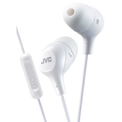 JVC In-Ear Headphones with 1-Button Remote Control And Mic - White