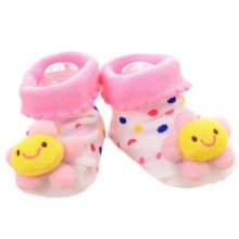 3 Pairs Non-slip Newborn Baby Boy Girls Toddler Socks Warm Non-skid Stockings Baby Gift For 6-12 Month Baby-A07