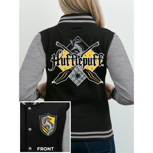XL Black Harry Potter- House Hufflepuff Varsity Jacket -