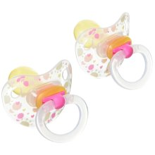 Nuk 510252 Transparent Latex Dummy Flower and Rabbit Size 2 (Color May Vary)