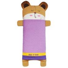 Bear Cartoon Pattern Cotton Small Pillow Case Soft Pillow Cover, Purple