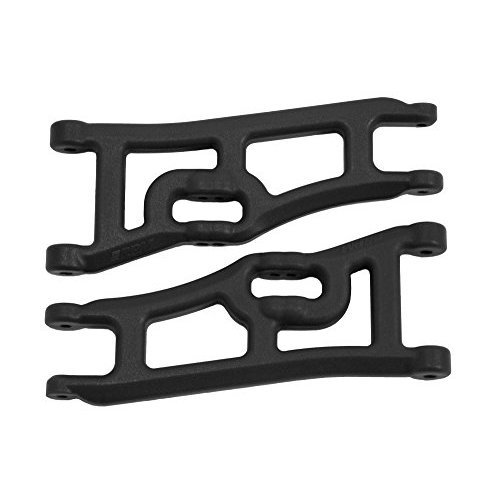 RPM 70662 Wide Front A-Arms, Traxxas E-Rustler and Stampede 2WD, Black