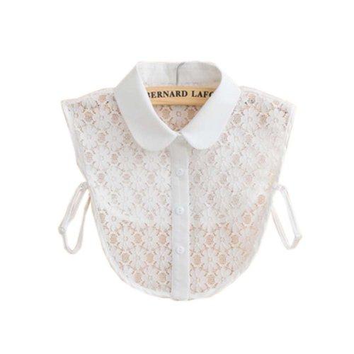 Trendy Detachable Lace Collar Fake Collar All-match Fake Half Shirt for Women, #03