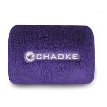 Elastic Cotton Wrist Wrap, One Size, Purple (Pair)