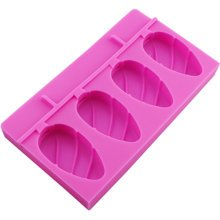 Cute Creative Ice Cube Tray Jelly Tray Mold for Summer, Rose red