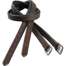 Jeffries Super Quality Stirrup Leathers: Dark Havana: 60 Inch X 1 Inch