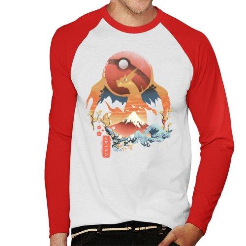69768a187 Ukiyo Charizard Pokemon Men's Baseball Long Sleeved T-Shirt on OnBuy