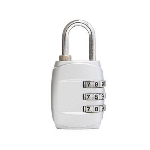 Mini 3 Digits Travel Luggage Suitcase Metal Coded Lock?white