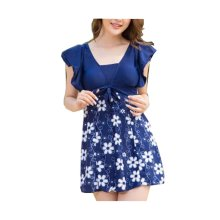 Lovely Hot Springs Chest Gather Swimsuit/One-piece Swimming Apparel