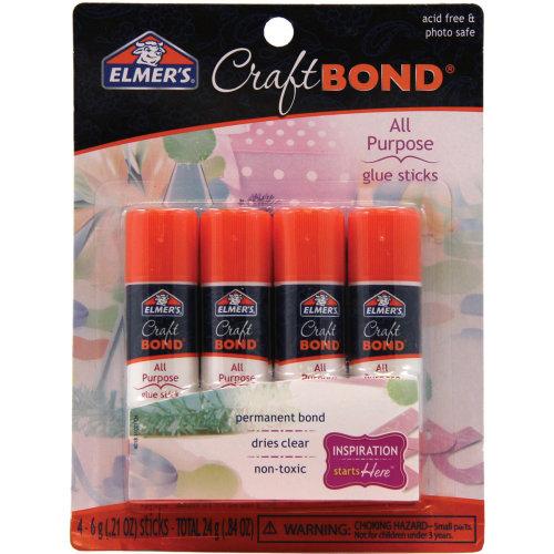 Elmer's CraftBond(R) All-Purpose Glue Sticks 4/Pkg-.21oz