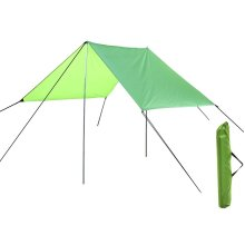 3m x 4m Summit Tarp Canopy - 2 x Steel Poles And Carry Bag. -  canopy summit large tarp green