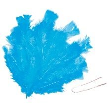 Pbx2470592 - Playbox - Easter Feathers W/ Wire (turquoise) - 48 Pcs