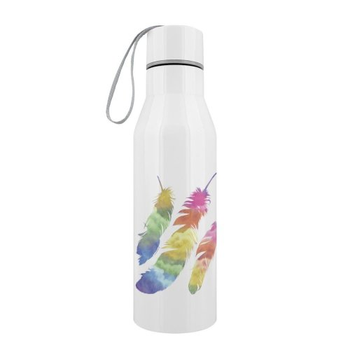 Grindstore Rainbow Feathers Stainless Steel Water Bottle