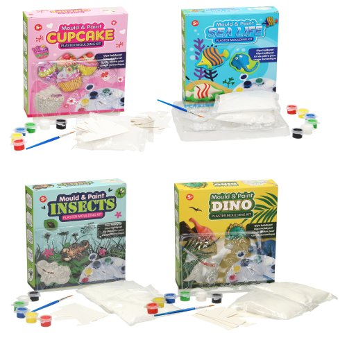 Mould and Paint your own Dino, Sea Life, Insects & Cupcake Set