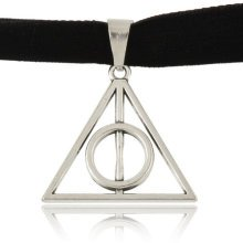 Harry Potter Deathly Hallows Choker Charm Necklace