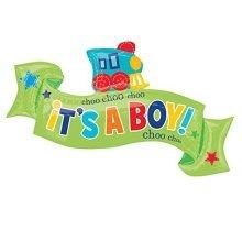 Welcome Little Boy SuperShape Foil Balloons 40/101cm w x 22/55cm h - P35