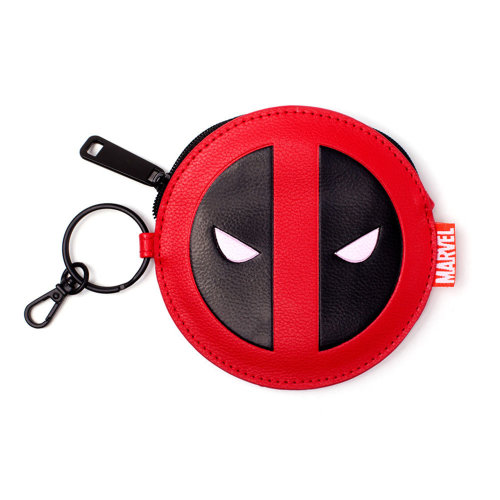 MARVEL COMICS Deadpool Face Coin Purse, Red/Black (GW268775DED)