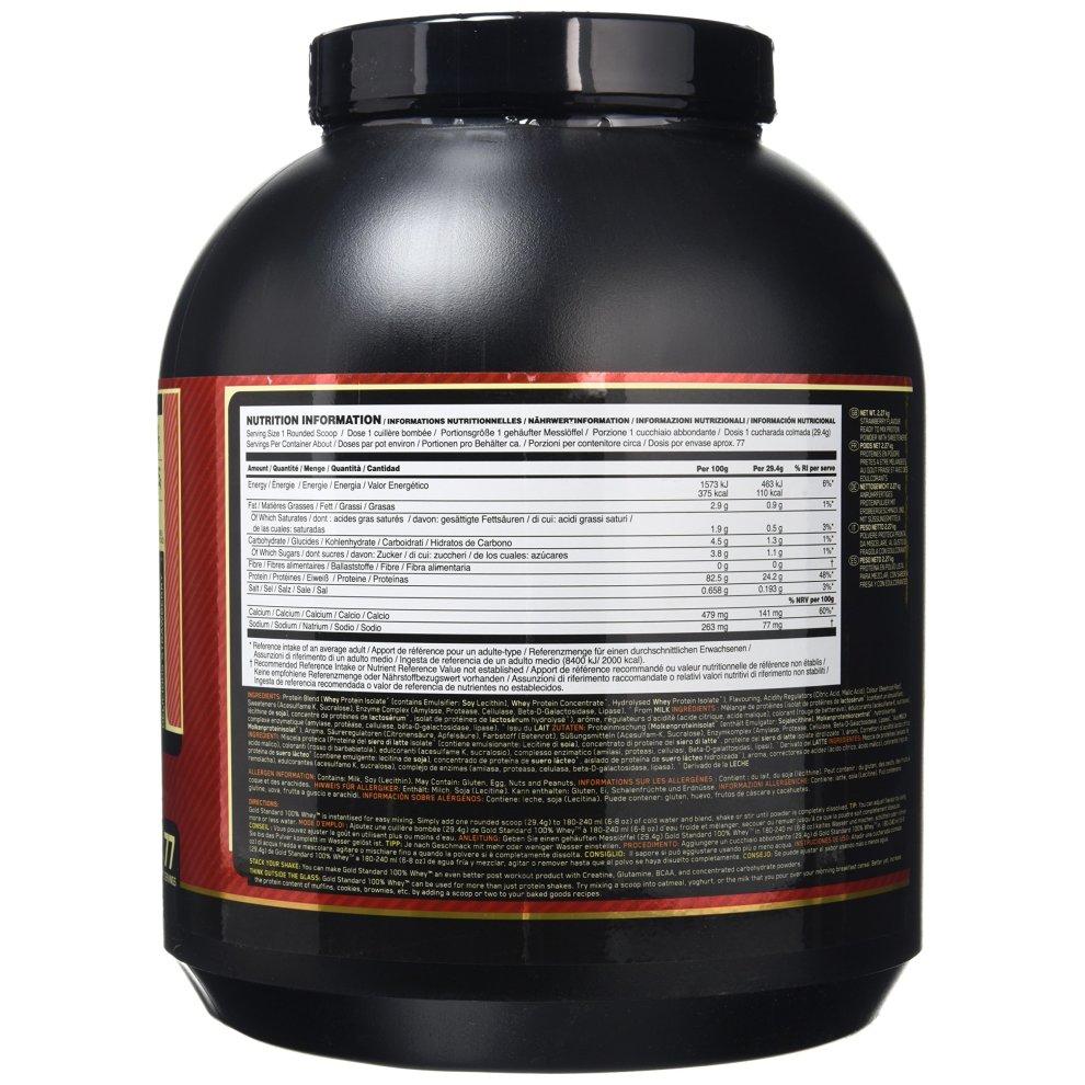 Protein Shaker Optimum Nutrition: Optimum Nutrition Gold Standard 100% Whey 2273 G