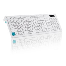 LESHP USB PC Keyboard Desktop Ergonomic Keyboard with Soft Touch Keys for Mac