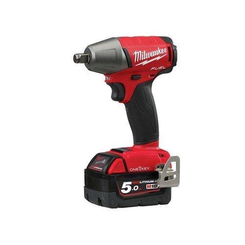 Milwaukee 4933451375 M18 ONEIWF12-502X Fuel ONE-KEY 1/2in FR Impact Wrench 18 Volt 2 x 5.0Ah