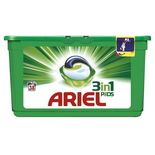 Ariel 3-in-1 Regular Liquitabs Bio Washing Detergent Cleaning Pods - 38 Washes