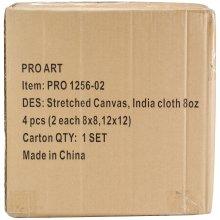 "Pro Art Nested Artist Canvas Set 4/Pkg-2 Each of 2 Sizes (8""X8"" & 12""X12"")"