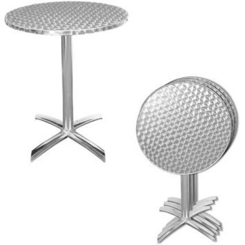 Silkie Stainless Steel Folding Patio Table Flip Top Bistro Style or Top