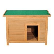Pawhut Wooden Dog Kennel Elevated House W/ Open Top 85w X 58d X 58h Cm