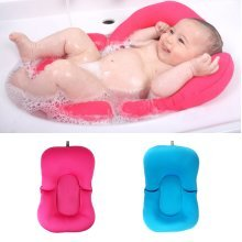 Baby Bath Tub Pillow Pad Lounger Air Cushion Floating Soft Seat Infant Newborn Non-slipt Bath Pillow
